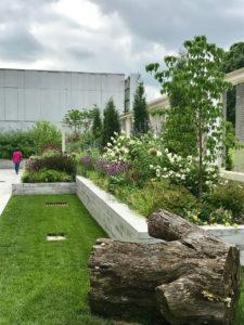 tiered public garden trout lily garden design white plains westchester ny