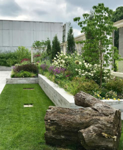 multi-level garden office building grounds trout lily garden design katonah ny